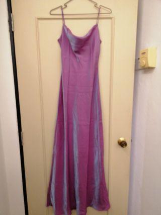 Metallic Purple Prom Dress Dinner gown evening wear