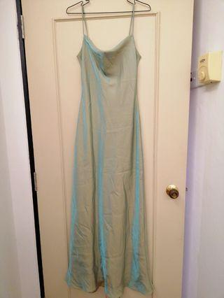 Metallic prom long dress evening gown