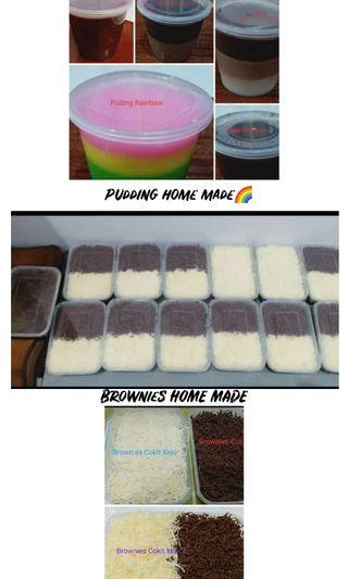 Brownies & Pudding Home Made