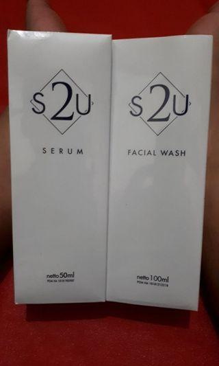 Sale! S2U Original Facial Wash 100ml + Serum 50ml (1paket)