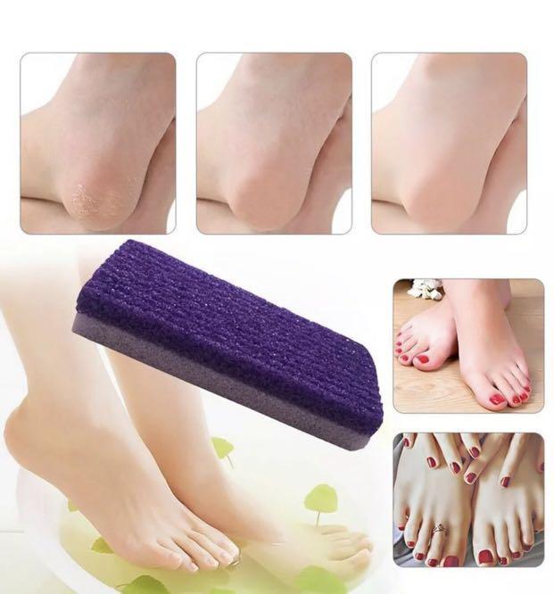 4x Foot Care Scrubber Sponge Pumice Stone Exfoliate Remove Dead Skin Pedicure au