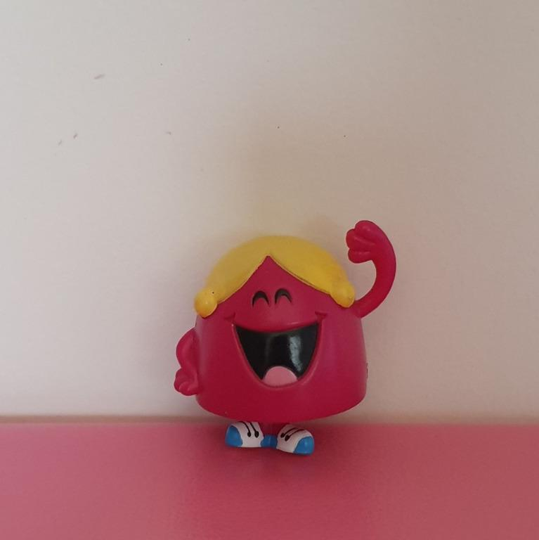 4x Little Miss Naughty Giggles Chatterbox plush toys & plastic figure