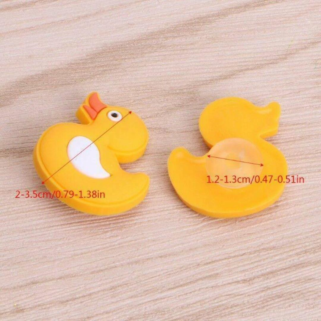 4 pairs / 8 cute cartoon character clog rubber shoe charms