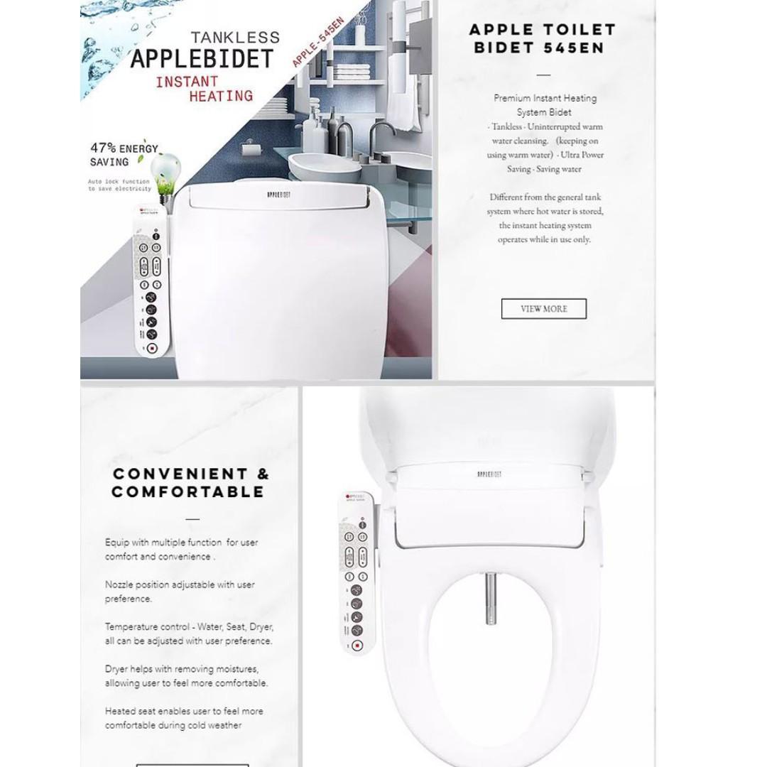Apple Bidet En545 Rear Nozzle Korean Made Home Appliances