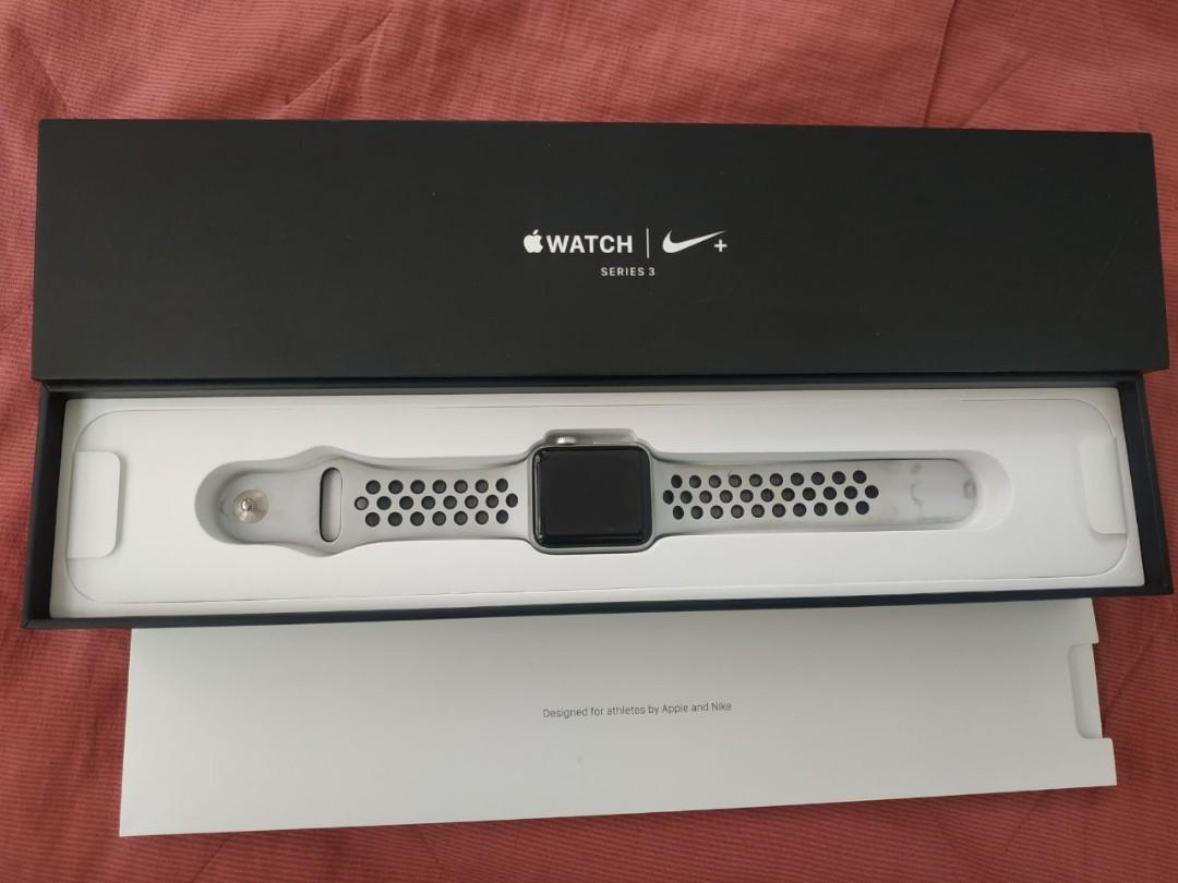 Apple Watch 3 Nike+ series 38 mm Fullset Free 3 Strap 800rb an