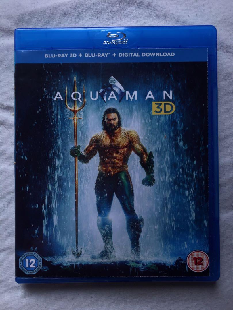 Aquaman (2018) 2D+3D Blu-ray Disc U S Sci-Fi Action Film