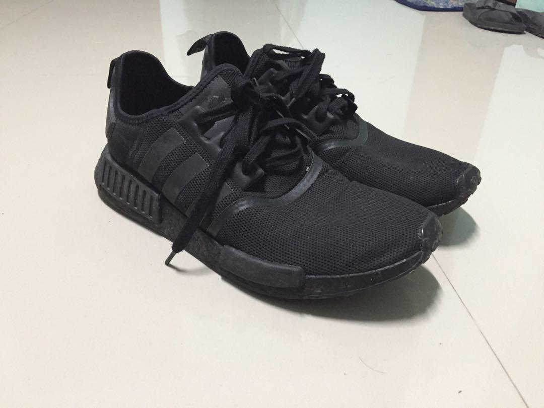 Authentic Adidas Nmd R1 Triple Black Us12 Men S Fashion Footwear