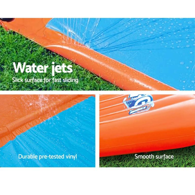 Bestway Inflatable Water Slip And Slide Single Kids Splash Toy Outdoor 5.49M