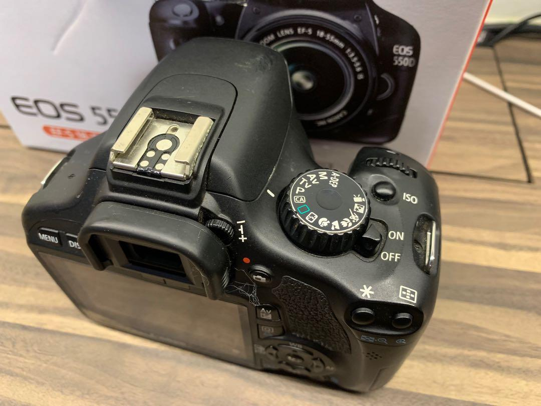 Canon 550D body used