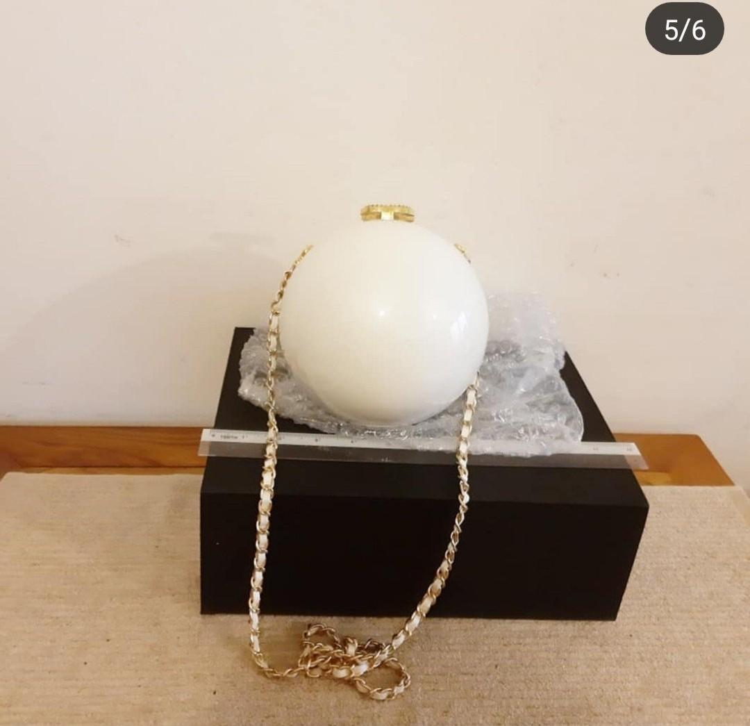 CHANEL BOUTIQUE VIP GIFT PEARL BAG - KEPT UNUSED! - COMES WITH EXTRA ADD STRAP FOR CROSSBODY SLING  - NOT A BOUTIQUE RETAIL ITEM - RARE IN RESALE MARKET
