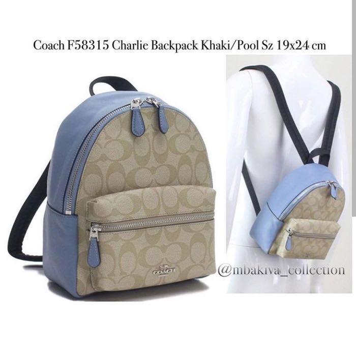 Coach Backpack light blue original authentic