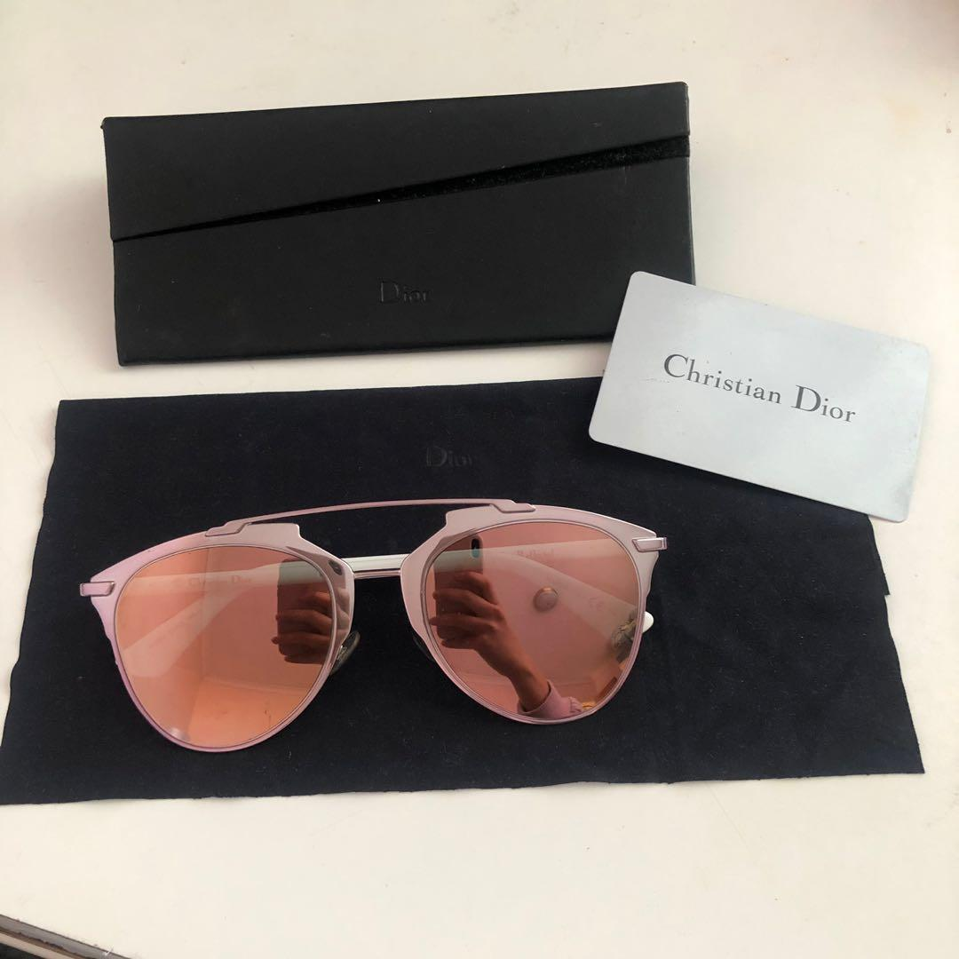Dior Reflected Pink White Rose Gold Sunglasses