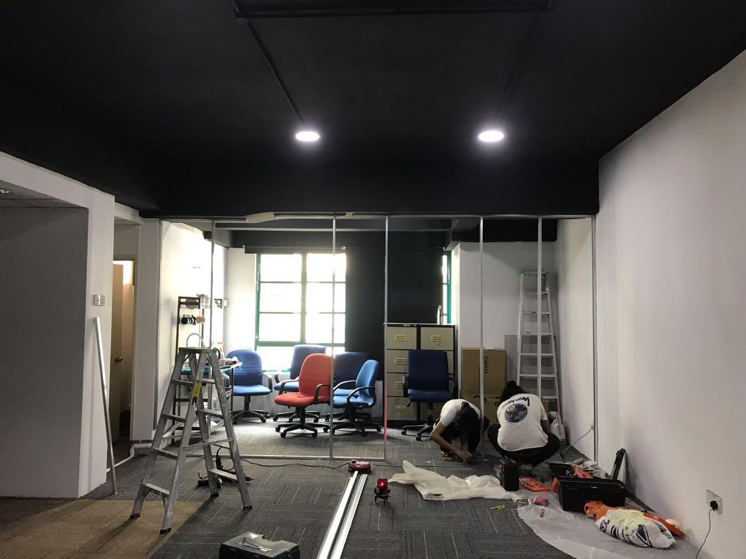 Drywall Partition Gypsum Installation For Office