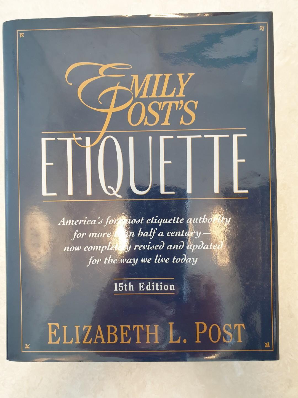 ETIQUETTE By EMILY POST'S Hardcopy