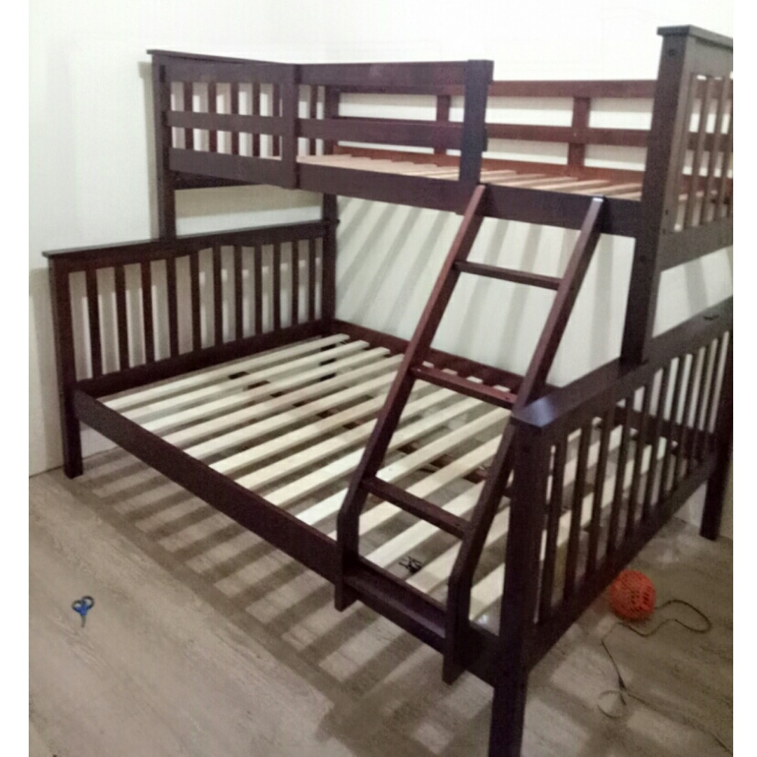 Home Furniture Bedroom Furniture Sale Longlife Nv 1200 Double Deck Bunk Bed Frame Only 36 X 75 Upper 54 X 75 Bottom Home Furniture Furniture Fixtures Beds Mattresses On Carousell