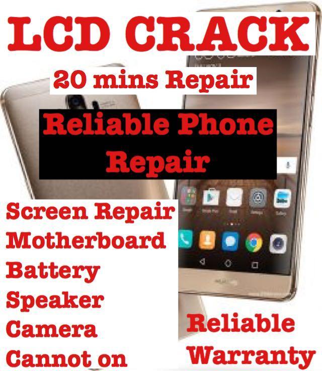 iPhone Screen Crack Repair, Samsung Phone LCD Repair