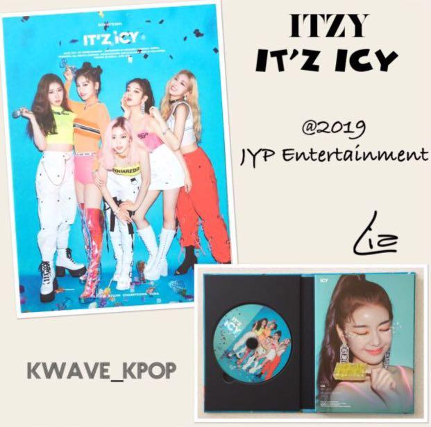 ITZY [IT'Z ICY] 2ND MINI ALBUM - 1 CD DISC + 1st PAGE LIA ON PHOTO BOOK COVER (UNSEALED ALBUM NO PHOTO CARDS)
