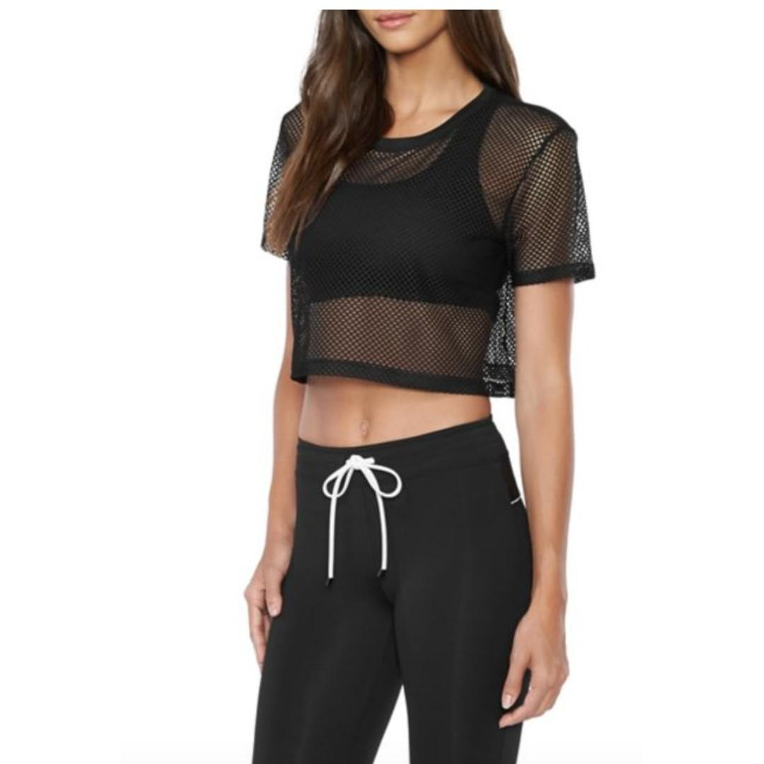 Koral Los Angeles Reggae Crop Top Workout Top Size Small