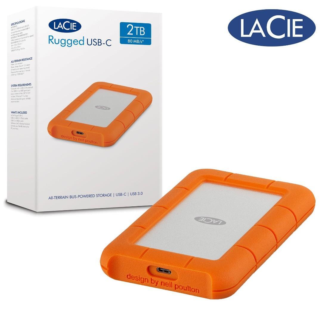 Lacie Rugged Mini 2tb External Hard