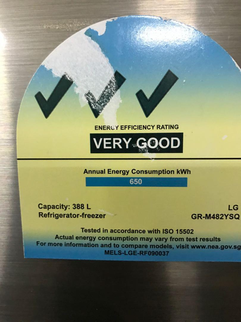 LG 388l 3 Ticks 2 Doors fridge / refrigerator