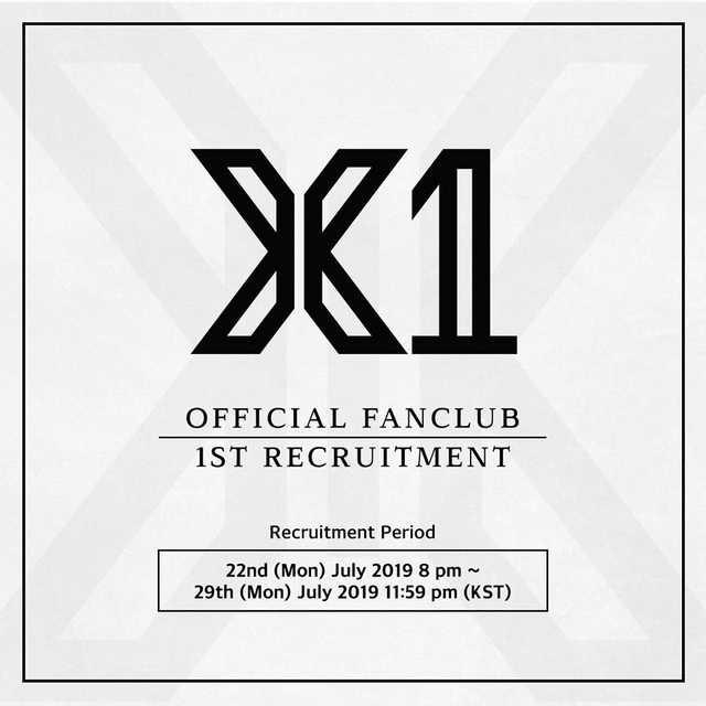 [LOOSE] X1 1st Official Fanclub Recruitment Photocard