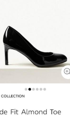 black court heels wide fit