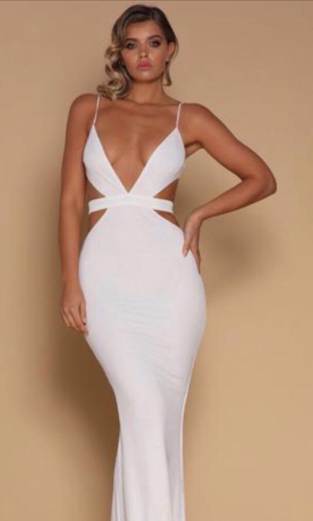 Meshki  cut out waist maxi dress size xs. Formal dress