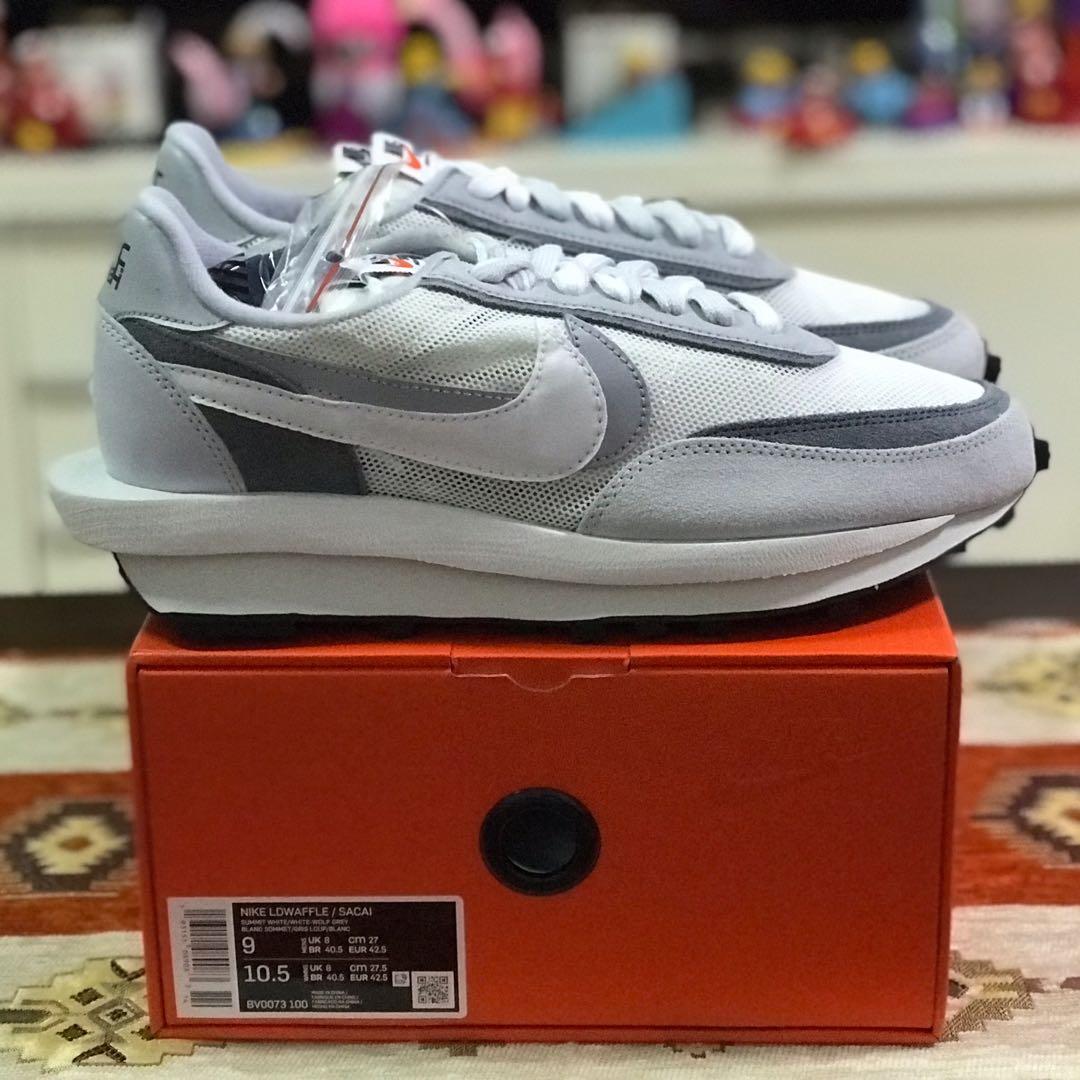 Nike Sacai Gray/White 9us BSTN, Men's