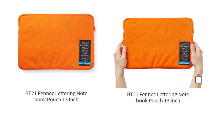 No EMS BT21 Fennec Lettering Notebook Pouch 13 Inch