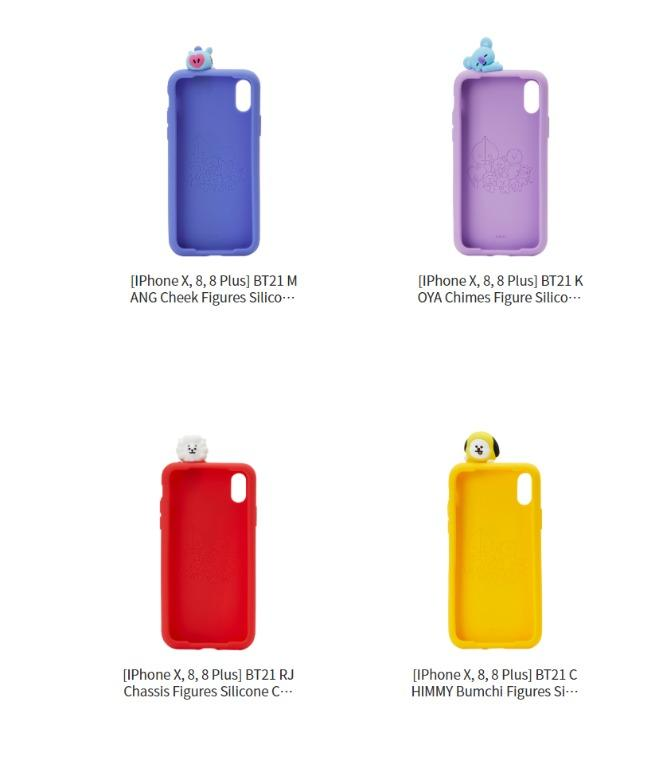 No EMS BT21 Figure Silicone Case (Iphone 7, 7+, 8, 8+ X)