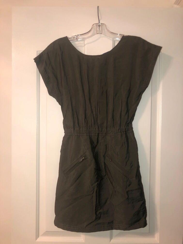 Olive Green Dress Size 0 (Xs)