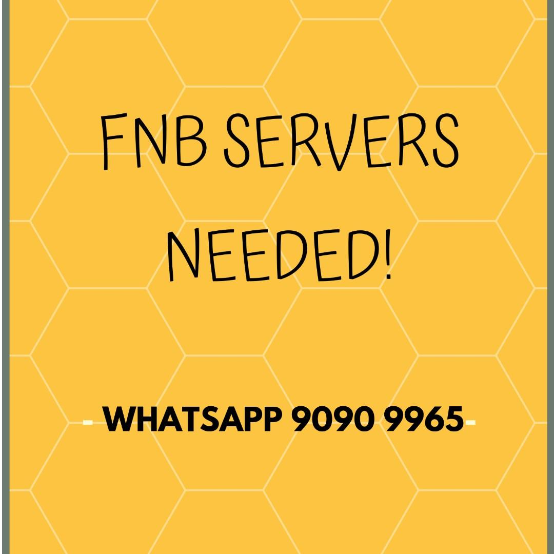 Part time FnB servers wanted