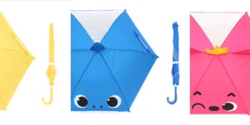 🇰🇷韓國直送🇰🇷🦈PinkFong x BabyShark 小童雨傘⛱
