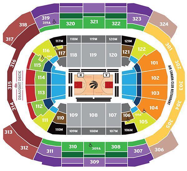 Raptors Tickets - Lower Bowl - 110 row 28 seats 11 & 12