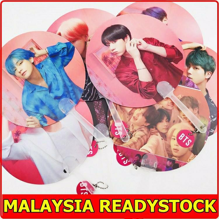 READY STOCK BTS Hand Fan Picket Map Of the Soul Persona Concert Fans RM Jin Suga