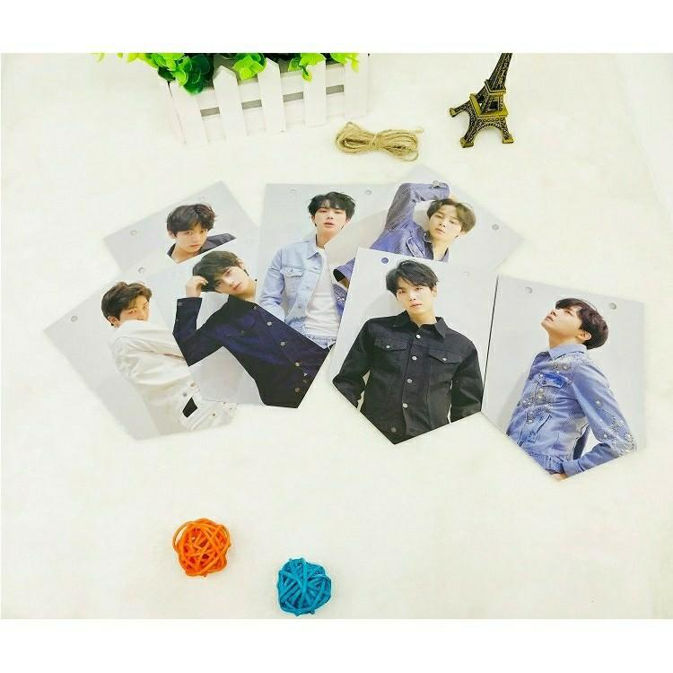 READY STOCK KPOP BTS Twice Blackpink Bangtan Boys Wall Picture Paper Flag Poster Hangup Photo Picture Home Decor Hanging