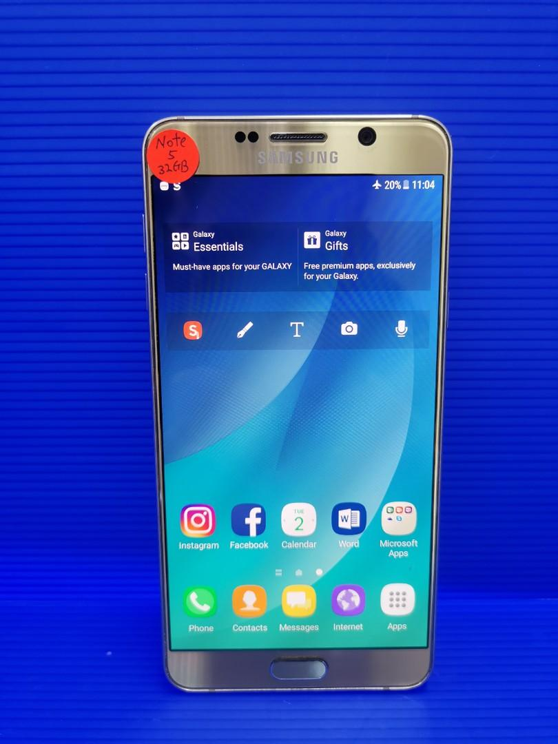 Samsung Note 5 gold 32gb(used)