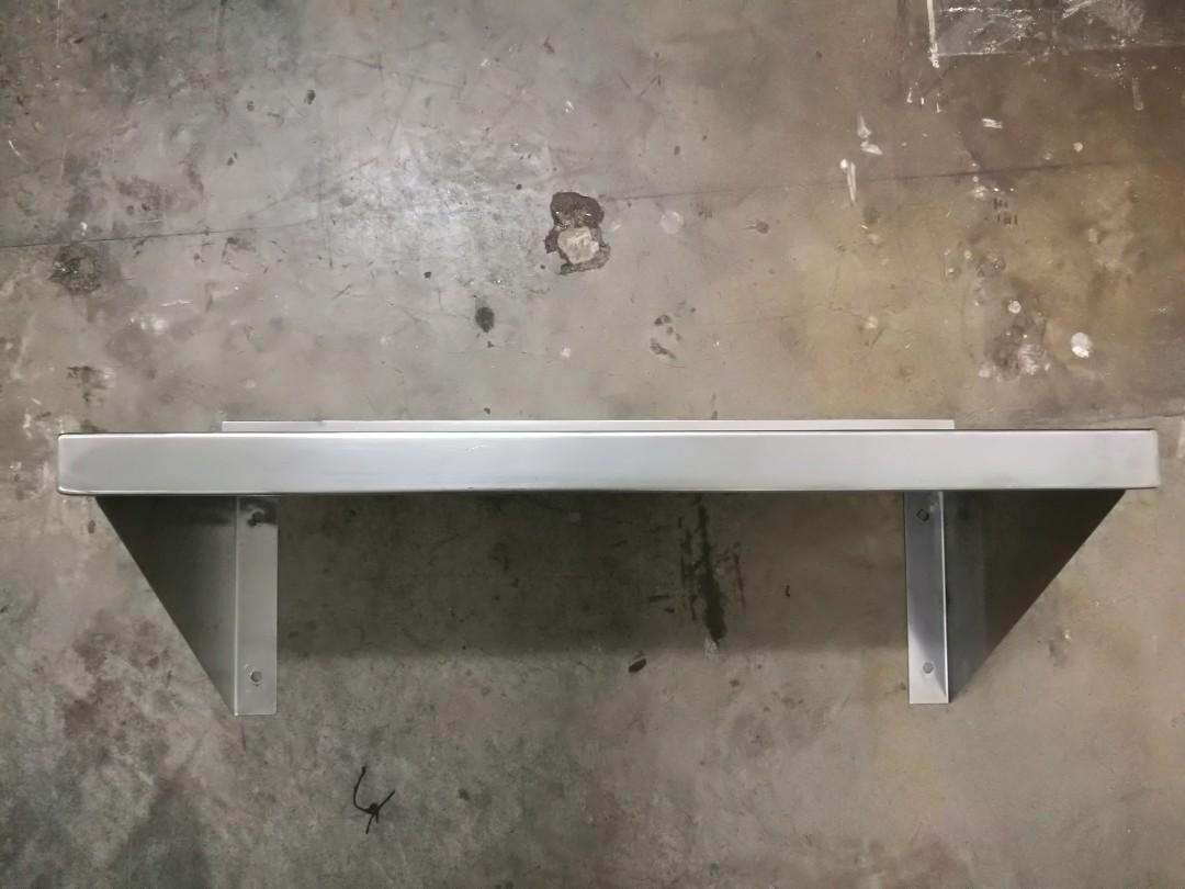 Stainless steel wall mount shelf