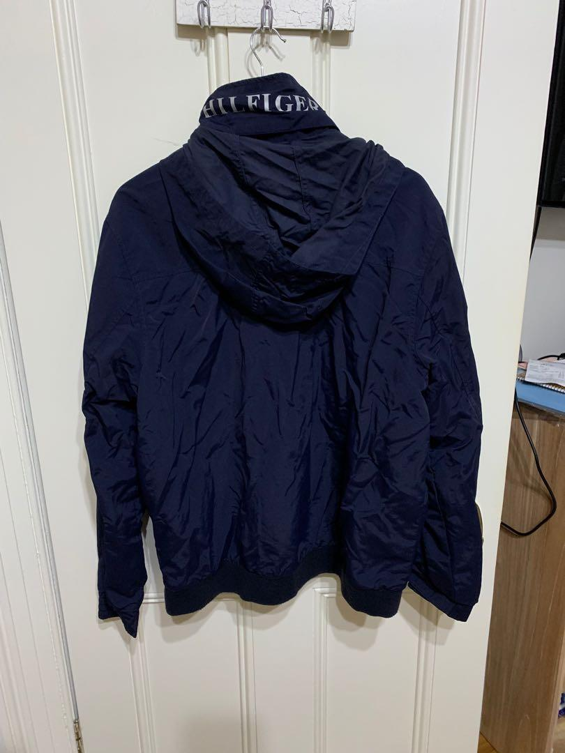 Tommy Hilfiger dark blue jacket with hood (size XL