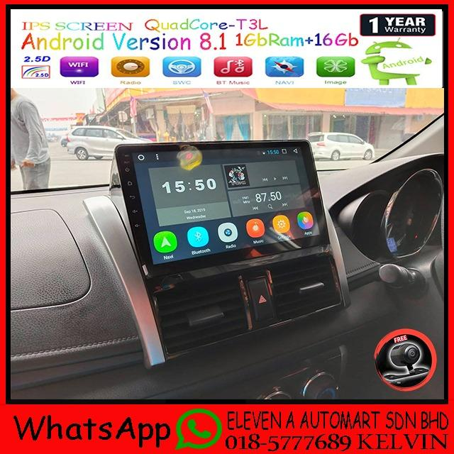 TOYOTA VIOS 13-16 IPS 2.5D Android 2din Car Multimedia MP5 Player
