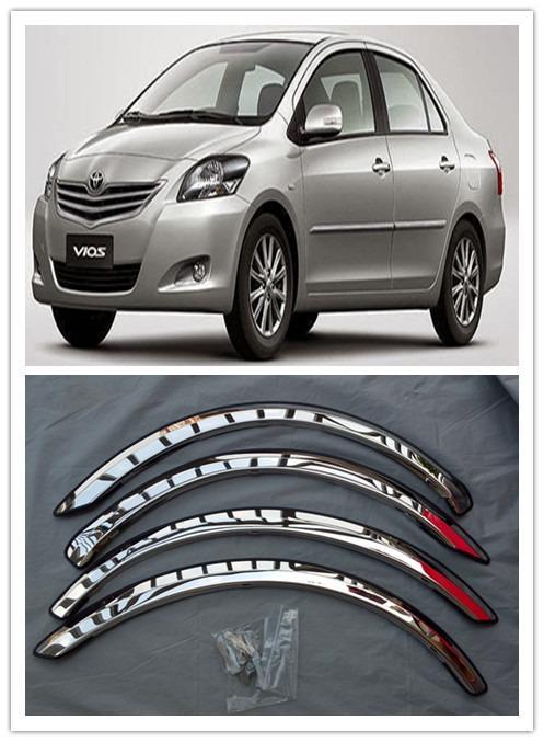Toyota Vios ncp93 Wheel Arch Trims Set 4 pcs CHROME
