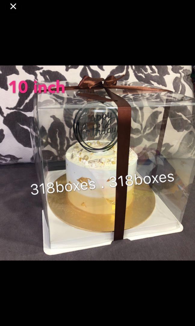 Transparent cake box 1 2 tier 8 / 10 / 12 / 14 inch