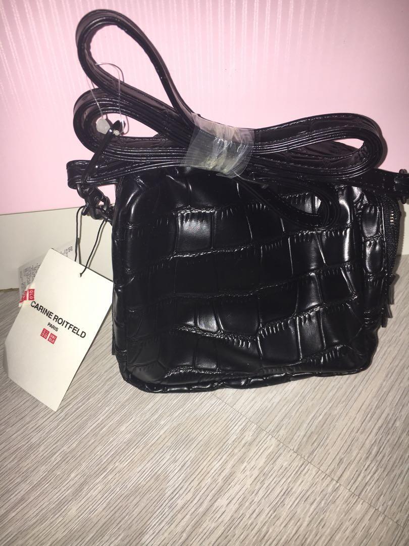 uniqlo carine roitfeld black small sling bag