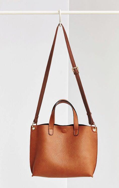 Urban Outfitters Faux leather reversible mini tote