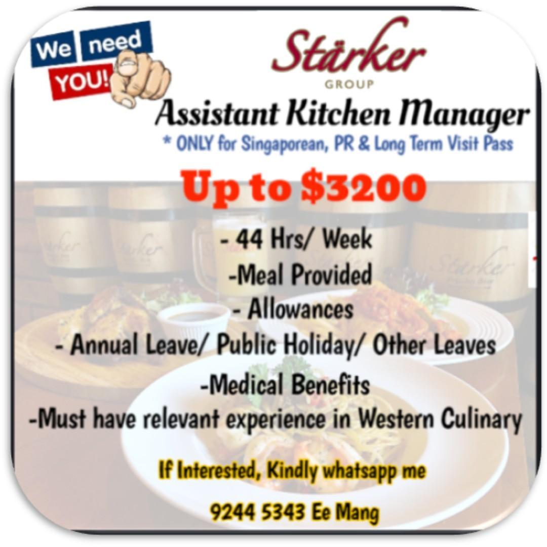 URGENT- Kitchen Assistant Manager