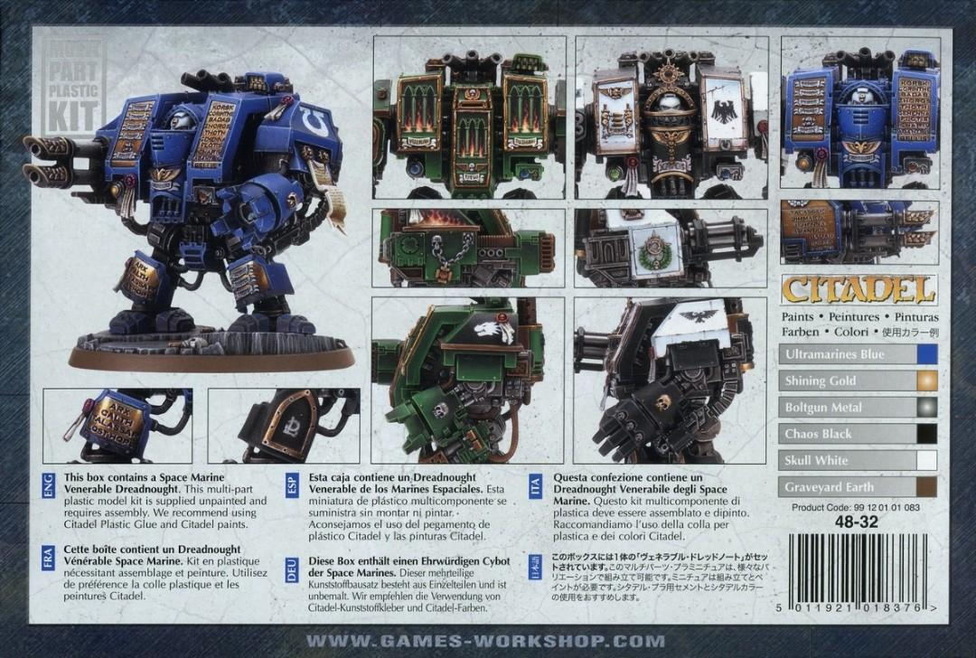 Warhammer 40k Space Marine Venerable Dreadnought Complete Toys Games Bricks Figurines On Carousell