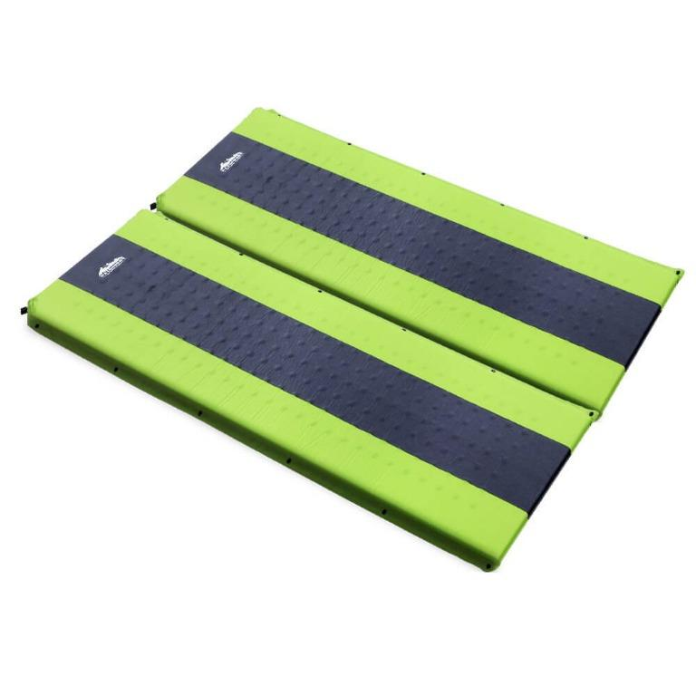 Weisshorn Self Inflating Mattress Camping Sleeping Mat Air Bed Pad Double Green