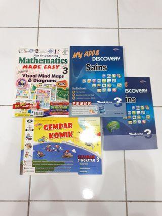 Form 3 Visual Mind map Maths, Science(eng/bm), Gempar Komik Sejarah