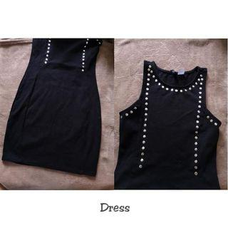 Black Studded Dress