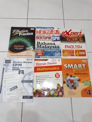 SPM Workbooks Sejarah,BM,Eng,Bio,Maths